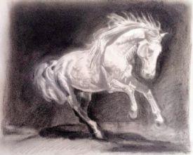 Iberian Horse Art Print